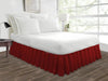 burgundy bed skirt