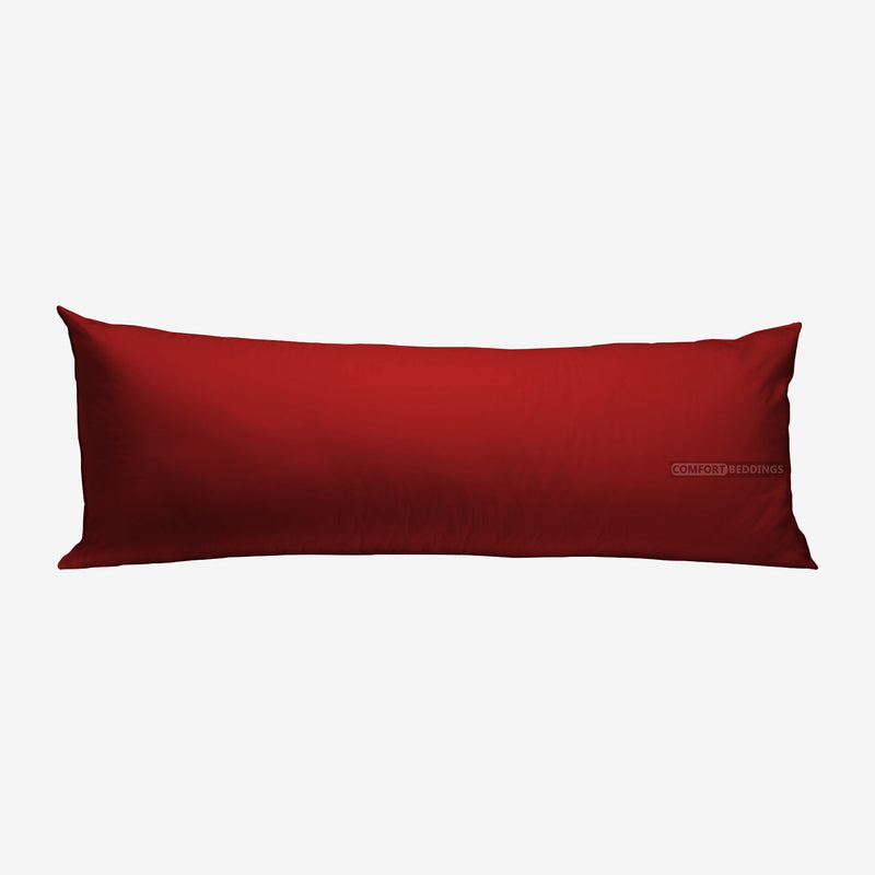 100% Egyptian Cotton Burgundy Body Pillow Cover