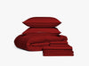 burgundy bed in a bag