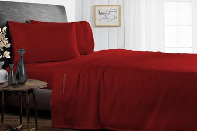 Luxury Burgundy Split Bed Sheets Set