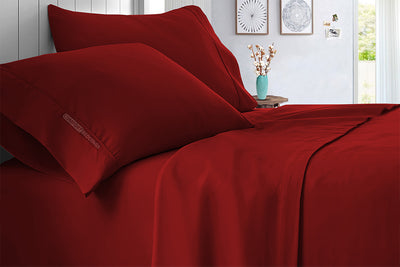 Luxury Burgundy Sheet Set