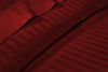 Most Selling 600 TC Burgundy Stripe Flat Sheet