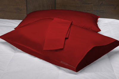 burgundy supreme pillow cases
