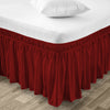 Luxury Burgundy Wrap Around Bed Skirt
