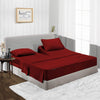 600TC Elegant Burgundy Split Head Sheet Set