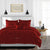 100% Egyptian cotton Burgundy Ruffle Duvet Cover Set