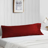 Best burgundy stripe body pillow cover