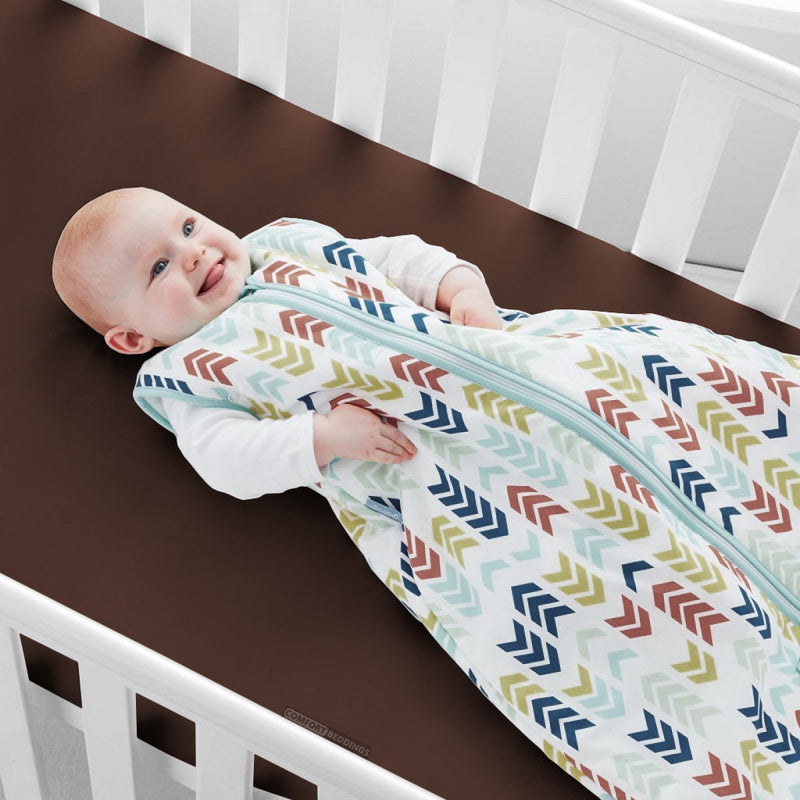 Luxury Chocolate Brown Fitted Crib Sheets