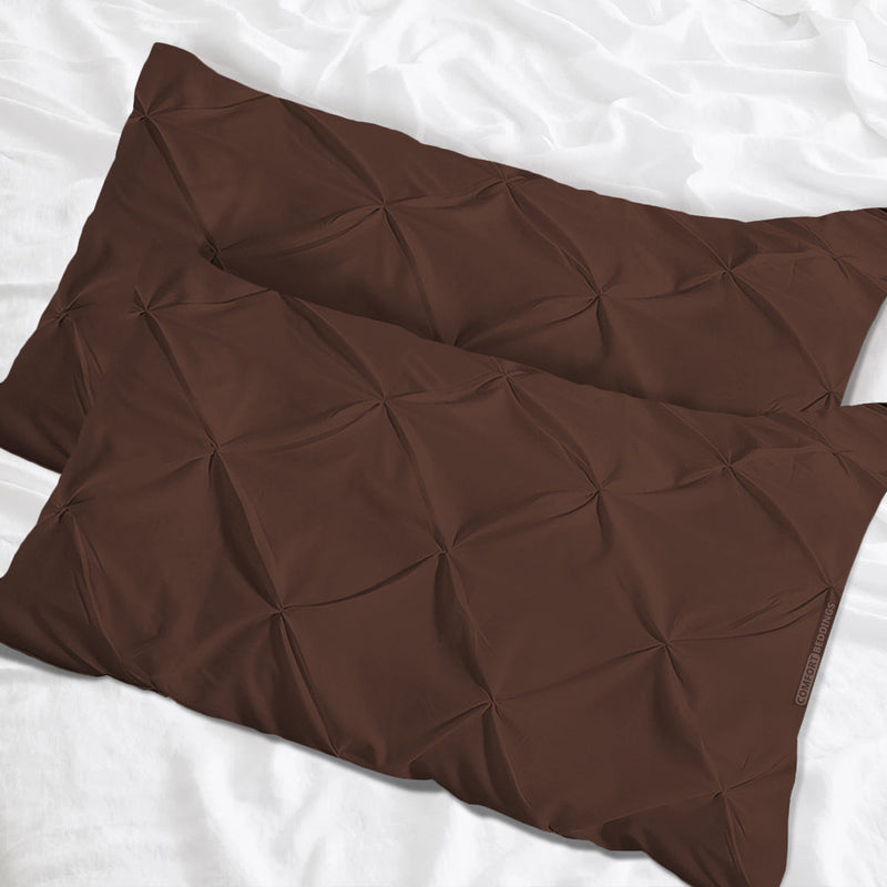 Luxurious chocolate pinch pillow cases