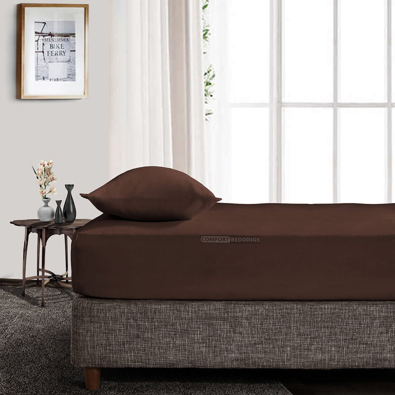 Luxury Chocolate Brown Fitted Sheet