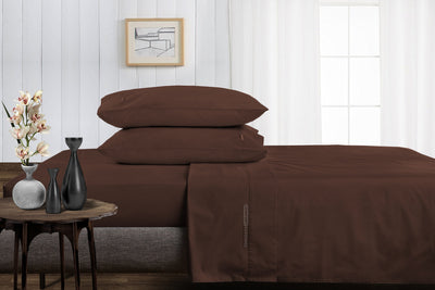 Adjustable Chocolate Split Bed Sheets
