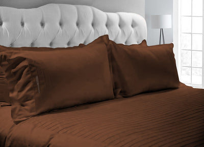 Luxurious Chocolate Moroccan Streak Duvet Cover And Pillowcases