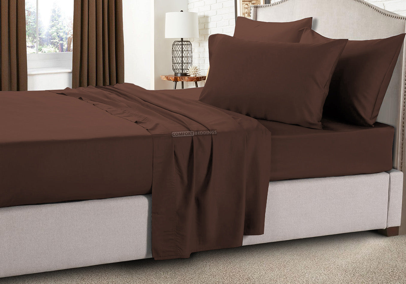 Chocolate Rv King Sheet Set 100% Egyptian Cotton