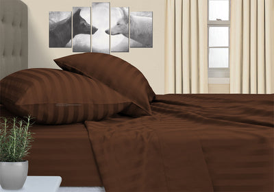Luxurious Soft Chocolate Stripe Camper Bunk Sheet Set