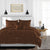 100% Egyptian Cotton Chocolate Ruffle Duvet Cover Set