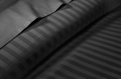 100% Egyptian Cotton Dark Grey Stripe Split Sheet Set