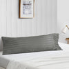Latest striped dark grey body pillow cover
