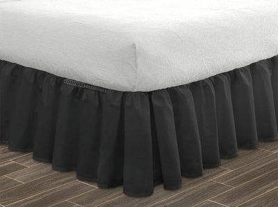 gray bed skirt