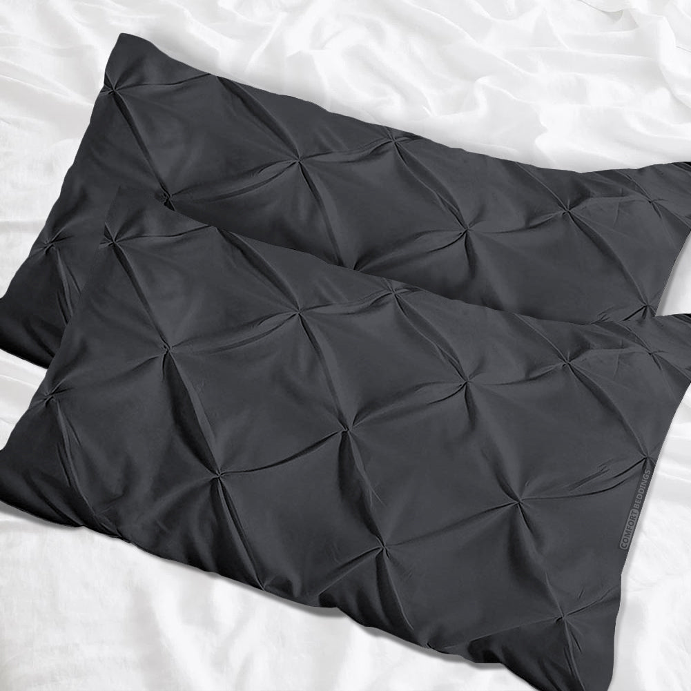Most selling Dark Grey pinch Pillow Cases