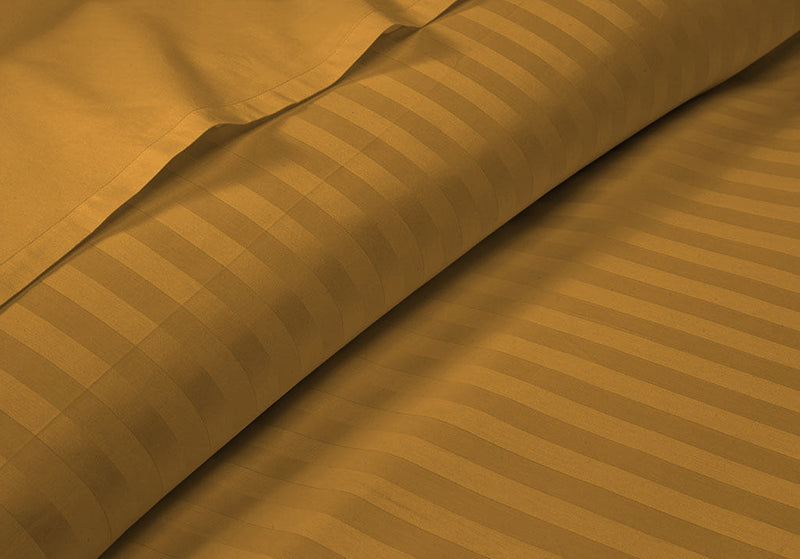 Soft Dark Golden Striped RV Bunk Sheet Set