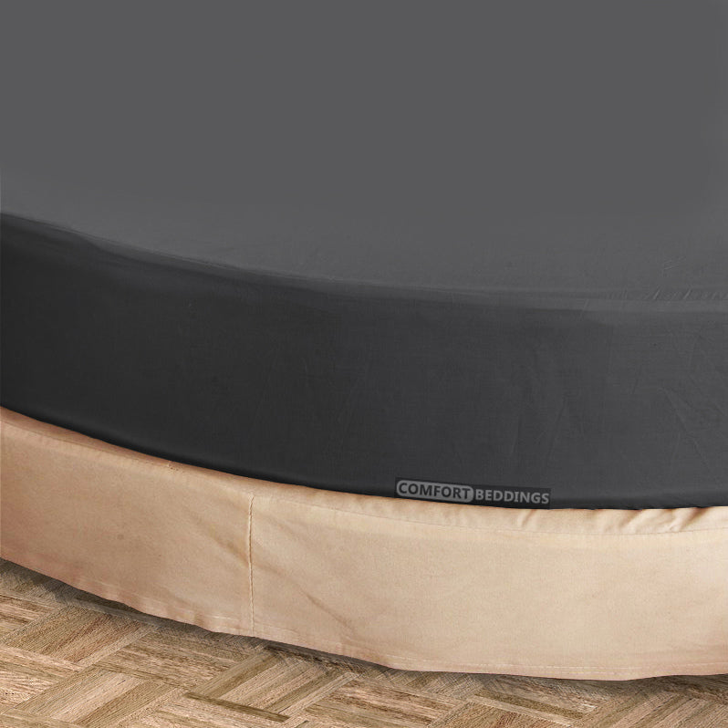 Luxury dark gray round Sheet Set