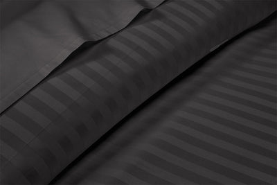 Egyptian Cotton Dark Grey Striped Pillow Cases