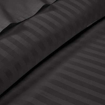 Egyptian Cotton Dark Gray striped Fitted Sheets