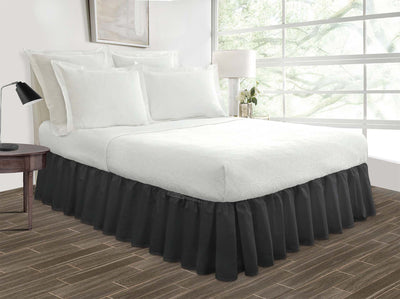 grey bed skirt