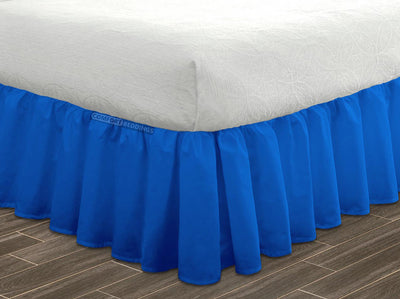 Top Quality Royal blue ruffled bed skirt 600 Thread Count