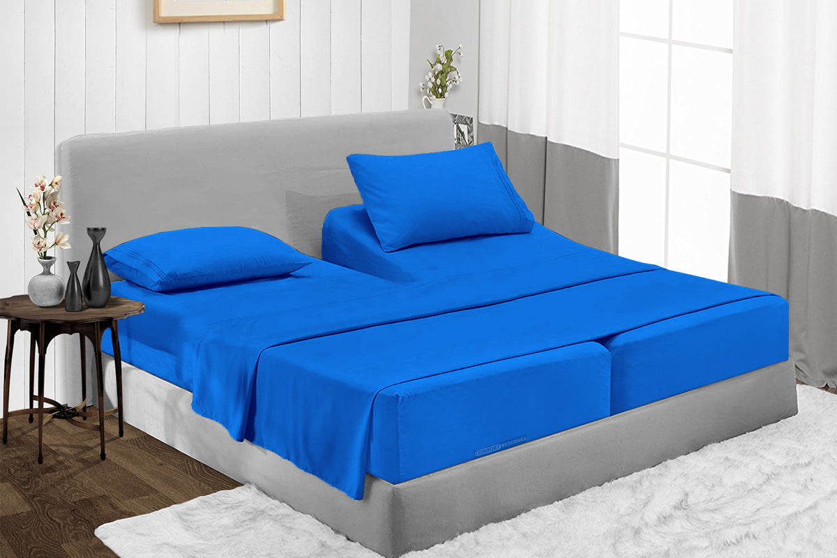 Luxury Royal blue Split Sheet Set - 600TC