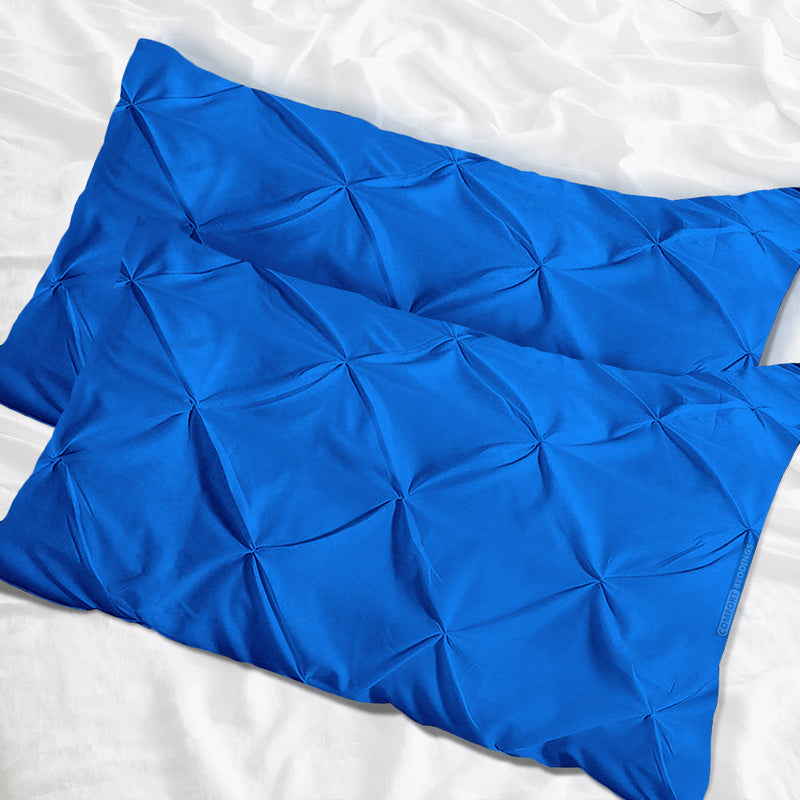 Luxury Royal blue pinch pillow cases