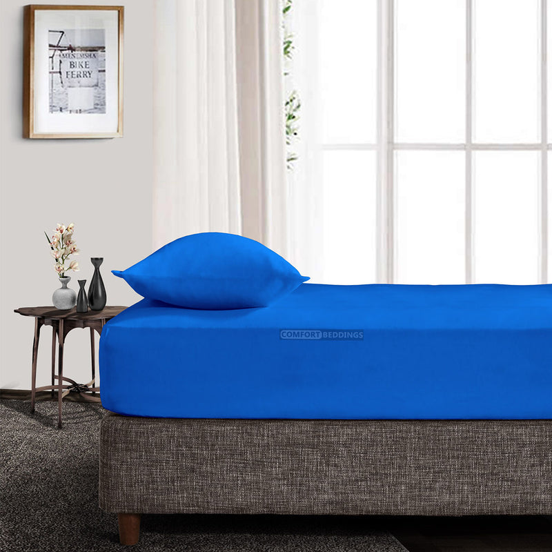 High Quality Royal Blue Fitted Sheet