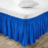 Top Quality Royal Blue Wrap Around Bed skirt