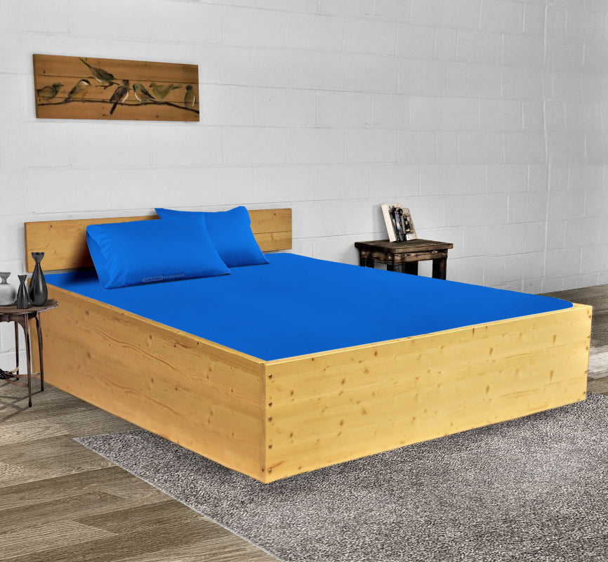Luxury 600TC Royal Blue Waterbed Sheets
