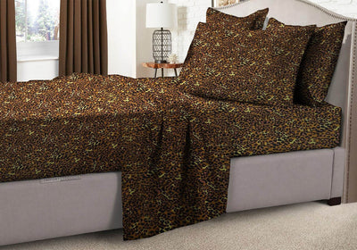 100% Egyptian Cotton Leopard Print RV Sheet Set
