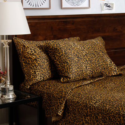 Luxury Leopard Print Sheet Set
