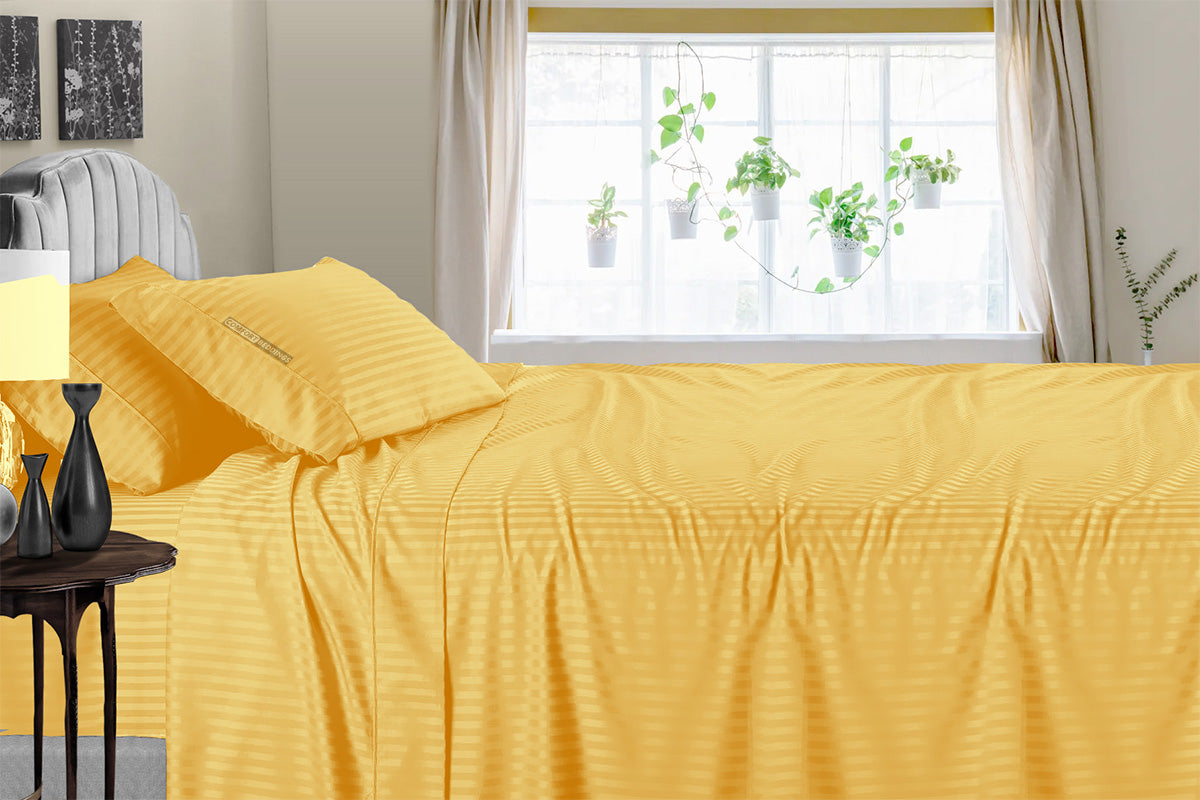 600 TC Golden Stripe Sheet Set