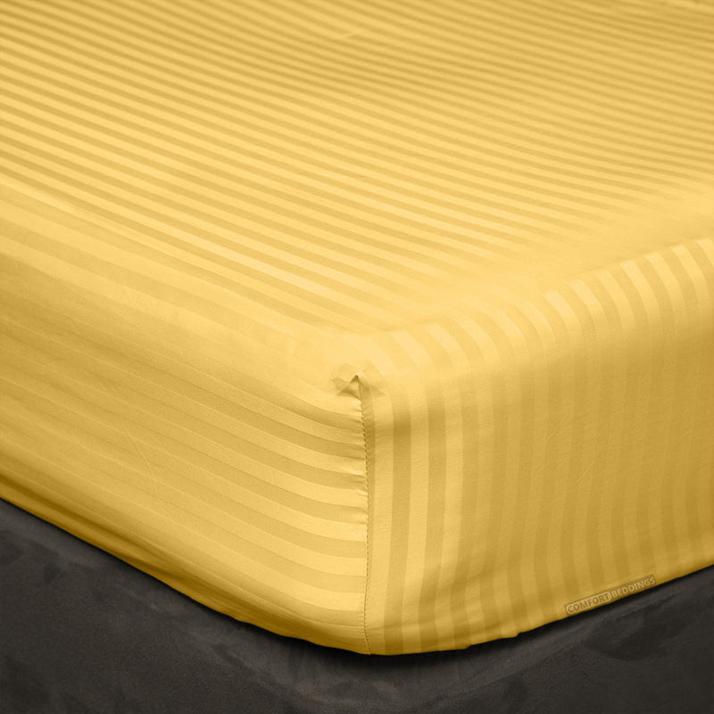 Golden stripe Fitted Sheets - 100% Egyptian