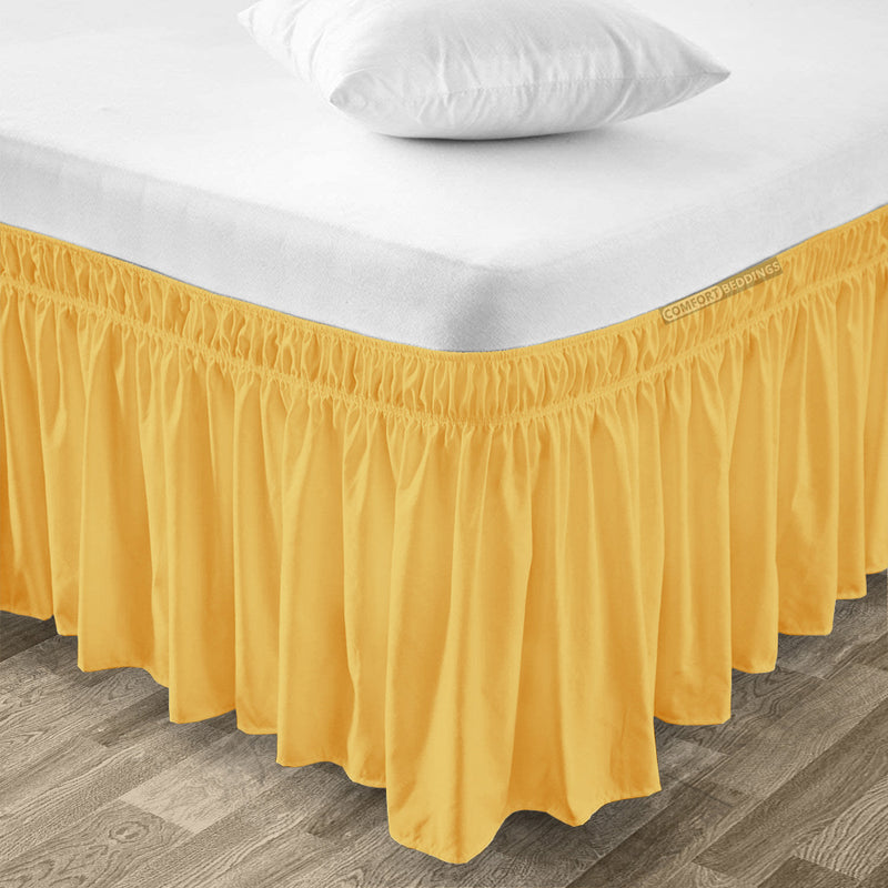 Top Selling Golden Wrap Around bed skirt