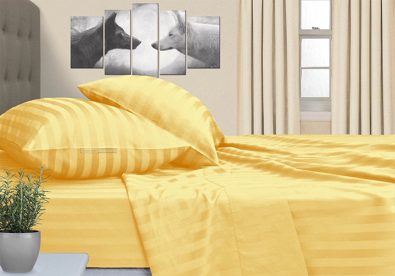 100% Cotton Golden Stripe RV Bunk Sheet Set