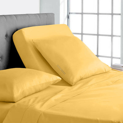 600TC Golden split head king sheets Set