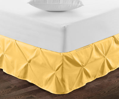 600 Thread Count Golden Pinch Pleated bed skirt