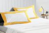 Classy golden - white two tone pillow cases