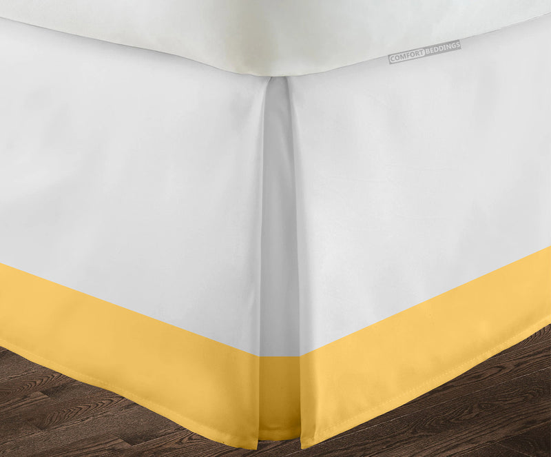 Egyptian cotton Golden two tone bed skirt