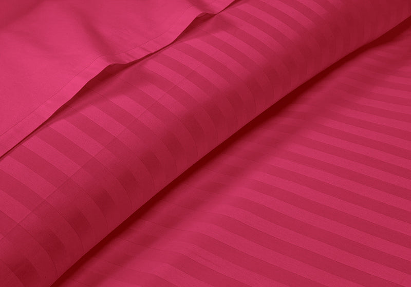 Smooth And Durable Striped Hot Pink RV Sheet Set