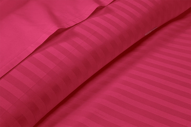Quality Hot Pink Stripe Split Sheet Set