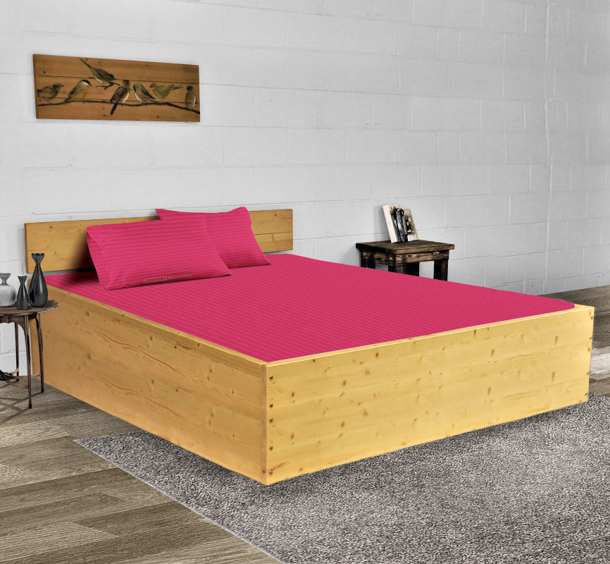 Classy Hot Pink Striped Waterbed Sheets