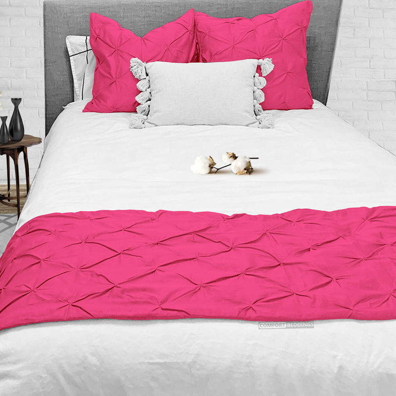 Top Rated Hot pink Pinch Bed Runner Set