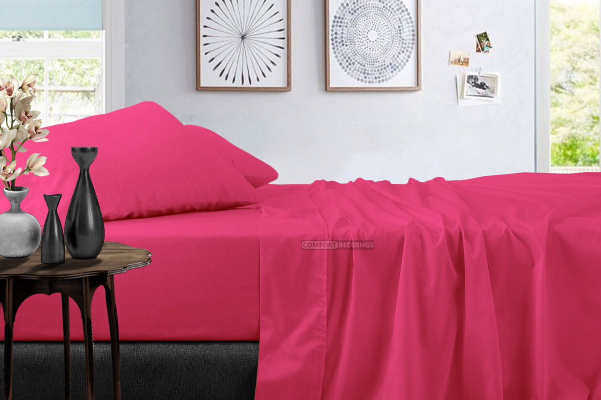 Luxurious 600 TC hot pink Sheet Set