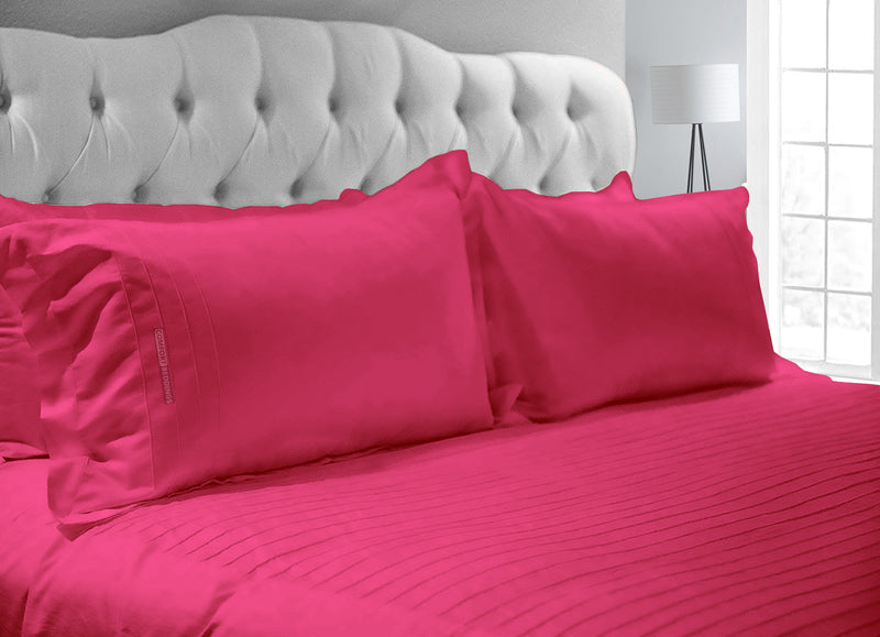 Luxurious Hot Pink 600 TC Moroccan Streak Duvet Cover
